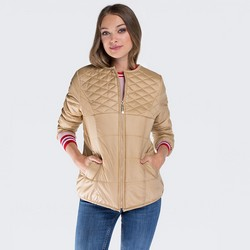 Dámská bunda, světle béžová, 87-9N-101-9-L, Obrázek 1