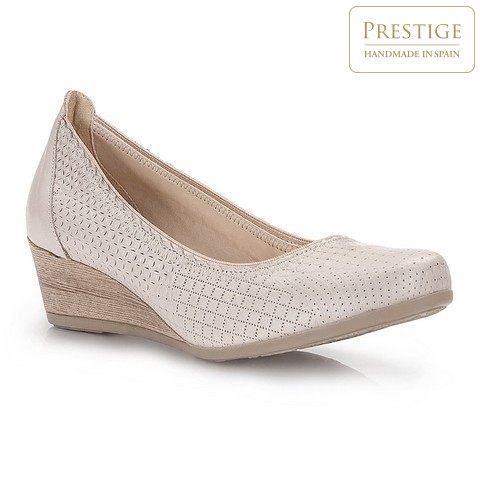 Dámské boty, světle béžová, 86-D-307-9-35, Obrázek 1