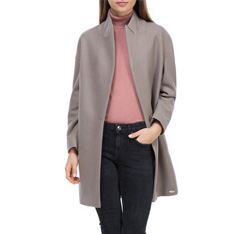 Dámský kabát, světle fialový, 84-9W-103-8-M, Obrázek 1