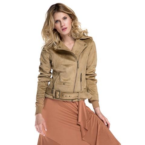 Dámská bunda, světle hnědá, 86-9P-100-4-S, Obrázek 1