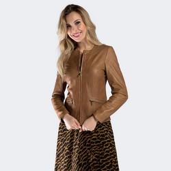 Dámská bunda, světle hnědá, 90-09-201-5-XL, Obrázek 1