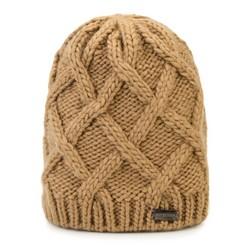 Dámská čepice, světle hnědá, 87-HF-019-5, Obrázek 1