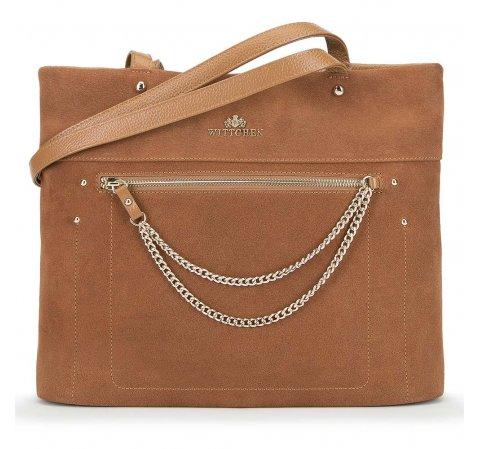 Dámská kabelka, světle hnědá, 90-4E-359-1, Obrázek 1