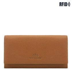 Velká kožená dámská peněženka, světle hnědá, 02-1-052-5L, Obrázek 1