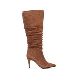 Dámské boty z semišové kůže, světle hnědá, 91-D-963-5-40, Obrázek 1