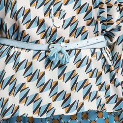 Dámský opasek, světle modrá, 86-8D-311-N-XL, Obrázek 1