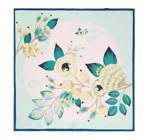 Dámský šátek, světle modro-bílá, 86-7D-S13-X14, Obrázek 1