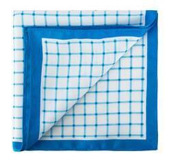 Kapesníček do saka, světle modro-bílá, 81-7P-P12-0, Obrázek 1