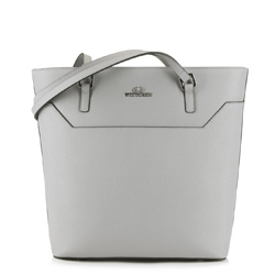 Nákupní taška, světle šedá, 89-4-701-8, Obrázek 1