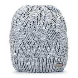 Dámská čepice, světle šedá, 93-HF-006-8, Obrázek 1