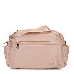 Маленькая нейлоновая дорожная сумка, светло-бежевый, 92-4Y-104-9, Фотография 1