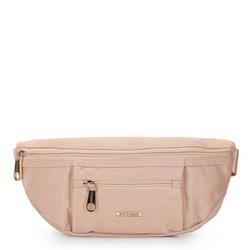 Женская нейлоновая сумка на пояс, светло-бежевый, 92-4Y-108-9, Фотография 1