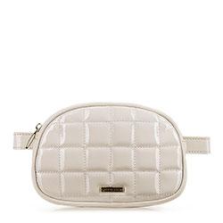 Стеганая женская сумка на пояс, светло-бежевый, 91-4Y-308-9L, Фотография 1