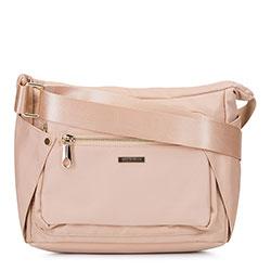 Женская нейлоновая сумка через плечо, светло-бежевый, 92-4Y-102-9, Фотография 1