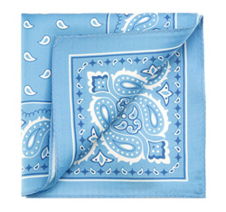 Нагрудный платок, светло-голубой, 85-7P-X01-X10, Фотография 1