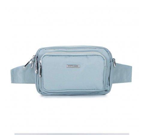 Женская нейлоновая сумка, светло-голубой, 92-4Y-109-P, Фотография 1