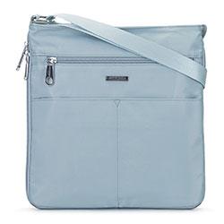 Женская нейлоновая сумка через плечо большая, светло голубой, 92-4Y-106-7, Фотография 1