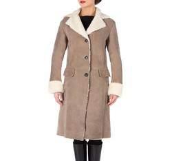 Дубленка женская, светло-коричневый, 81-9S-507-5-2X, Фотография 1