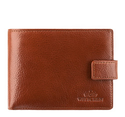 Мужской кожаный кошелек среднего размера, светло-коричневый, 21-1-038-5, Фотография 1