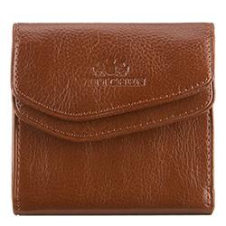 Мужской кожаный кошелек раскладывающийся, светло-коричневый, 21-1-088-5, Фотография 1