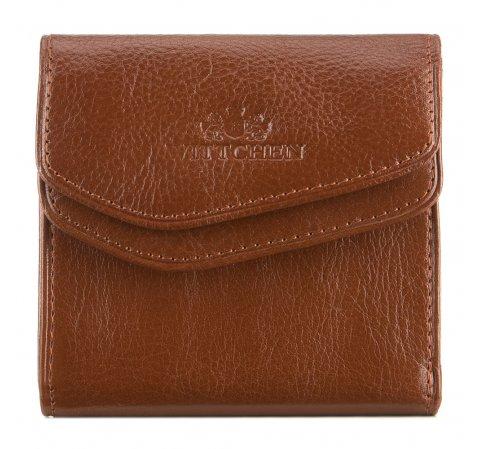 Мужской кожаный кошелек раскладывающийся, светло-коричневый, 21-1-088-4, Фотография 1