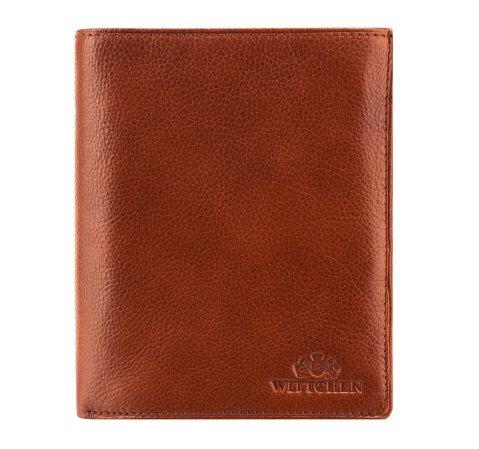 Большой мужской кожаный кошелек, светло-коричневый, 21-1-139-4, Фотография 1