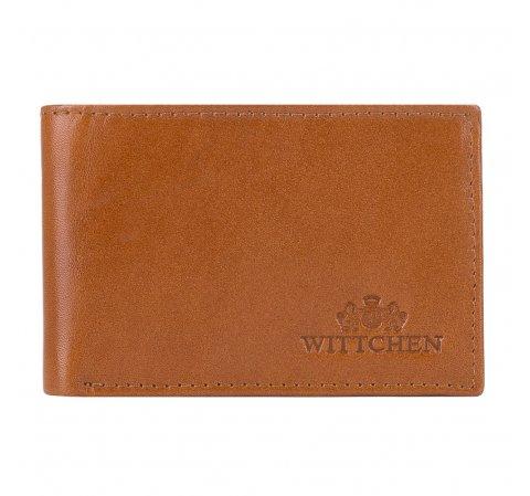 Кожаный кошелек мужской минималистичный, светло-коричневый, 26-1-421-1, Фотография 1