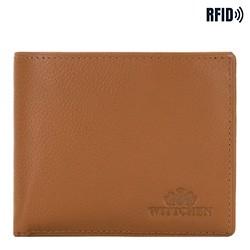 Кожаный мужской кошелек, светло-коричневый, 02-1-236-5L, Фотография 1