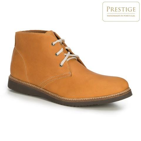 Мужские кожаные ботинки ручной работы, светло-коричневый, 89-M-351-5-44, Фотография 1