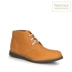 Мужские кожаные ботинки ручной работы, светло-коричневый, 89-M-351-5-40, Фотография 1