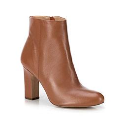 Классические кожаные сапоги на каблуке, светло-коричневый, 89-D-754-5-36, Фотография 1