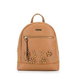 Рюкзак женский, светло-коричневый, 90-4Y-713-9, Фотография 1