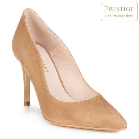 Женские замшевые кожаные туфли, светло-коричневый, 89-D-150-5-39, Фотография 1
