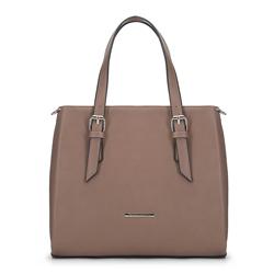 Женская сумка-саквояж с карманами, светло-коричневый, 91-4Y-701-9, Фотография 1