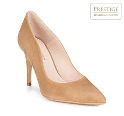 Женские замшевые кожаные туфли, светло-коричневый, 89-D-150-5-40, Фотография 1