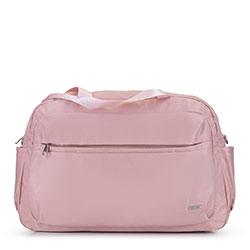 Большая нейлоновая дорожная сумка, светло-розовый, 92-4Y-105-P, Фотография 1