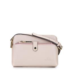 Женская кожаная сумка через плечо с чехлом в кармане, светло-розовый, 92-4E-654-0, Фотография 1