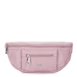 Женская нейлоновая сумка на пояс, светло-розовый, 92-4Y-108-P, Фотография 1