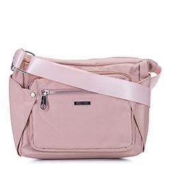 Женская нейлоновая сумка через плечо, светло-розовый, 92-4Y-102-P, Фотография 1
