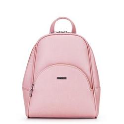 Женский рюкзак с полукруглым карманом, светло-розовый, 29-4Y-007-PE, Фотография 1