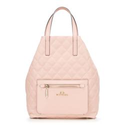 Женский стеганый рюкзак, светло-розовый, 92-4E-616-P, Фотография 1