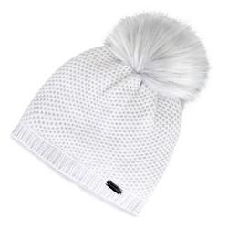 Женская элегантная шапка с помпоном | WITTCHEN, светло-серый, 91-HF-009-8, Фотография 1