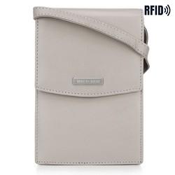 Кожаная мини-сумка через плечо 2-в-1, светло-серый, 26-2-100-8, Фотография 1