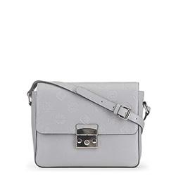 Женская кожаная сумка через плечо, светло-серый, 91-4E-609-8, Фотография 1