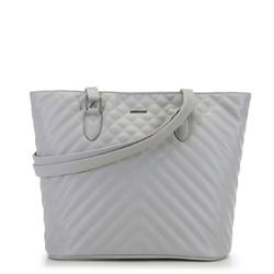 Женская сумка-шоппер, светло-серый, 91-4Y-606-8, Фотография 1