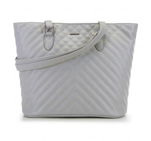 Женская сумка-шоппер, светло-серый, 91-4Y-606-4, Фотография 1