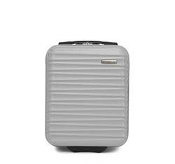 ABS kabin bőrönd bordázott, szürke, 56-3A-315-01, Fénykép 1