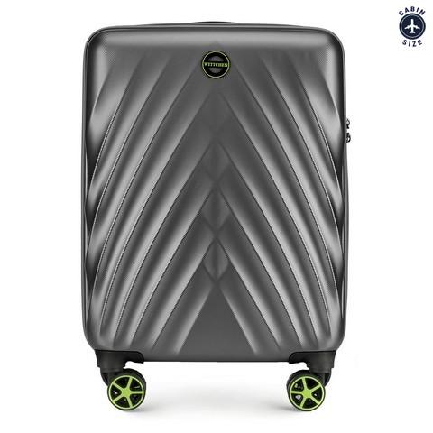 Kis bőrönd, szürke, 56-3P-801-90, Fénykép 1