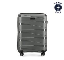 Kabin bőrönd, szürke, 56-3T-791-00, Fénykép 1