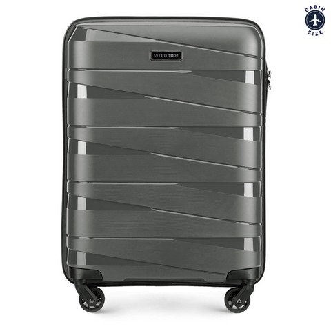 Kabin bőrönd, szürke, 56-3T-791-35, Fénykép 1